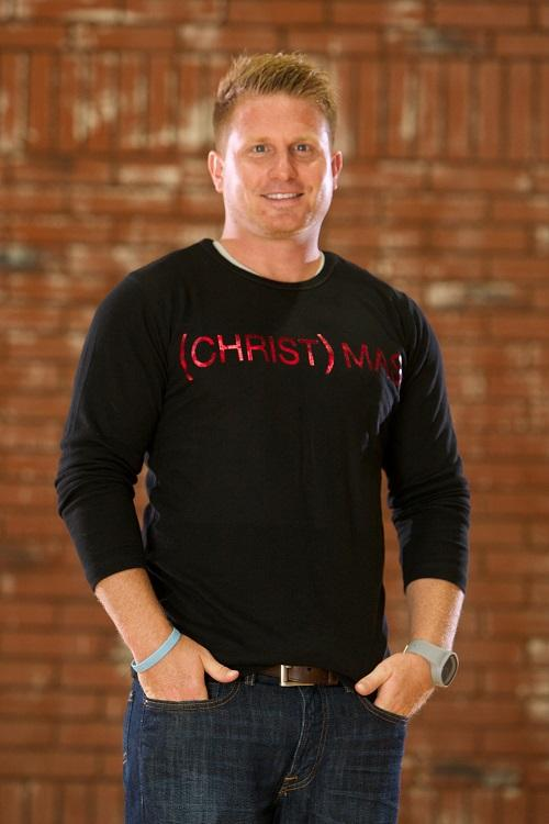 (CHRIST)MAS™ Thermal Men's Shirt - Black/Red Lettering
