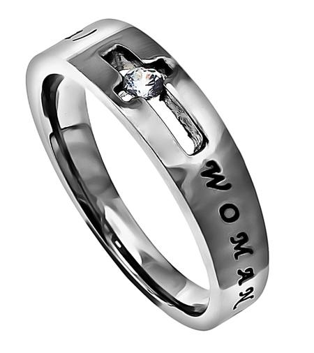 'Woman Of God' - Women's Solitaire Ring