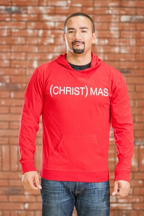 (CHRIST)MAS™ Adult Beach Hoody Men - Red