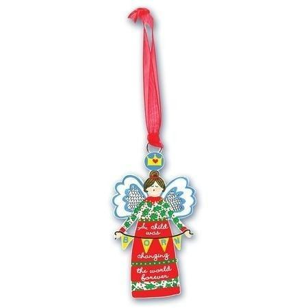 A Child Was Born, Angel Ornament-Christian Holiday Ornaments-SonGear Marketplace-SonGear
