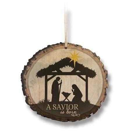 A Savior Is Born Ornament-Christian Holiday Ornaments-SonGear Marketplace-SonGear