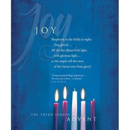 Advent, Large Bulletin, Joy (Luke 2:10-11) Bulletins, 100-Christian Church Supplies-SonGear Marketplace-SonGear