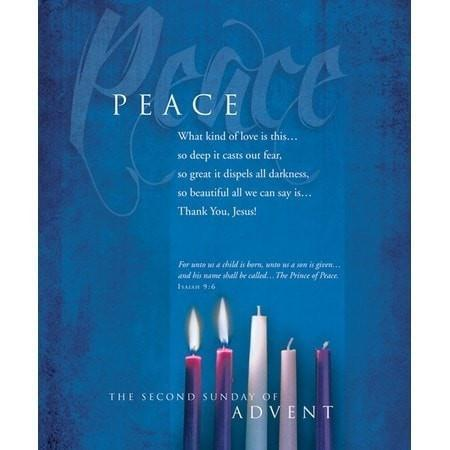 Advent, Large Bulletin, Peace (Isaiah 9:6) Bulletins, 100-Christian Church Supplies-SonGear Marketplace-SonGear