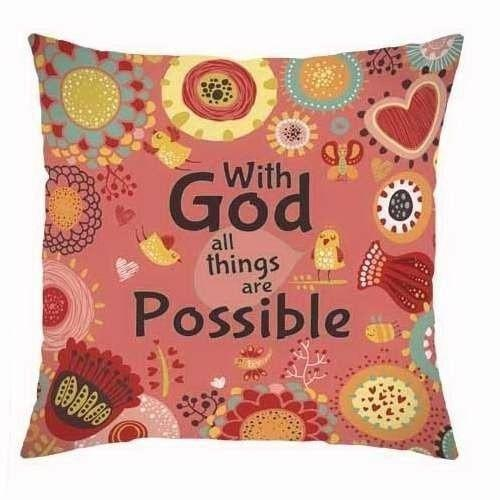 All Things are Possible Pillow-Christian Home Decor-SonGear Marketplace-SonGear