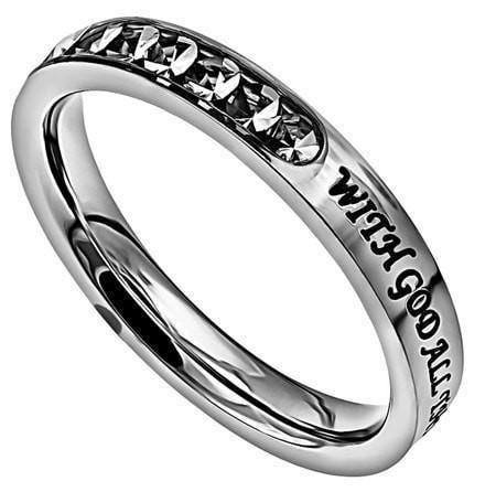 'All Things Are Possible' - Princess Ring-Christian Rings-Spirit and Truth-SGN4215484800-SonGear