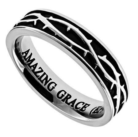 'Amazing Grace' - Women's Crown of Thorns Ring-Christian Rings-Spirit and Truth-SGN1689119738-SonGear