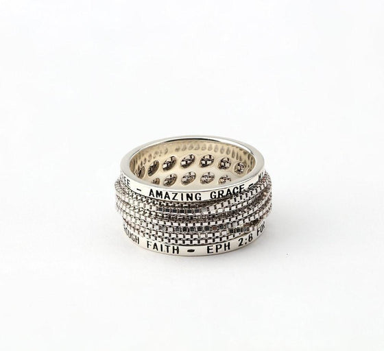 Amazing Grace - Wrap Ring - Silver-Christian Rings-SonGear-SonGear