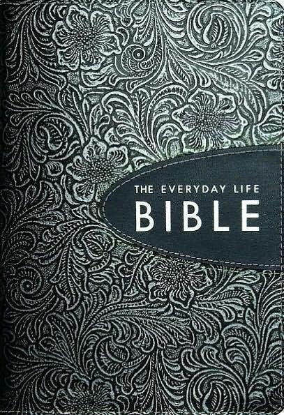 Amplified Everyday Life Bible-Pewter/Graphite Bonded Leather-Christian Bibles-SonGear Marketplace-SonGear