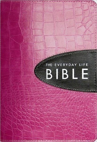 Amplified Everyday Life Bible-Pink/Expresso Bonded Leather-Christian Bibles-SonGear Marketplace-SonGear
