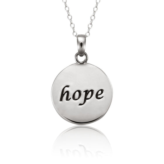 Anchored Hope Sterling Silver Necklace-Christian Necklaces-Halle Joy-SonGear