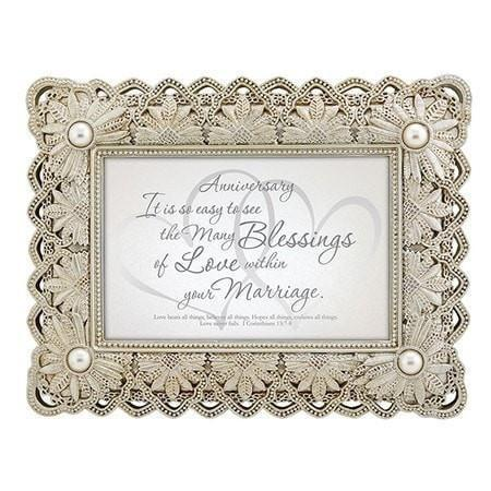 Anniversary, I Corinthians 13:7 Frame Print-Christian Picture Frames-SonGear Marketplace-SonGear
