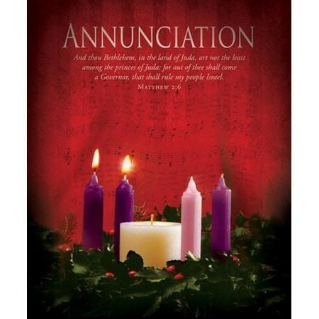 Annunciation (Matthew 2:6) Large Advent Bulletins, 100-Christian Church Supplies-SonGear Marketplace-SonGear