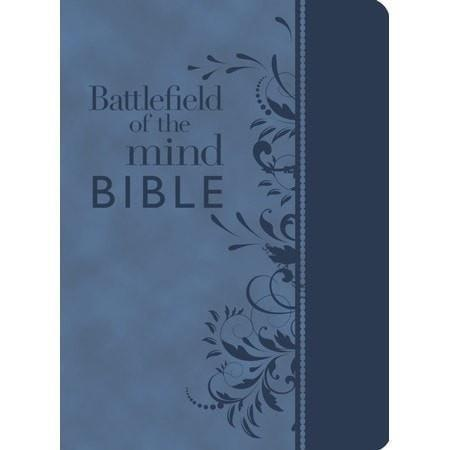 Battlefield Of The Mind Bible, Imitation leather, blue-Christian Bibles-SonGear Marketplace-SonGear