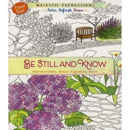 Be Still And Know Adult Coloring Book (Majestic Ex-Christian Books-SonGear Marketplace-SonGear