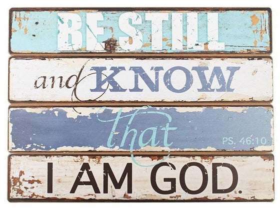 Be Still and Know, Wall Plaque-Christian Home Decor-SonGear Marketplace-SonGear