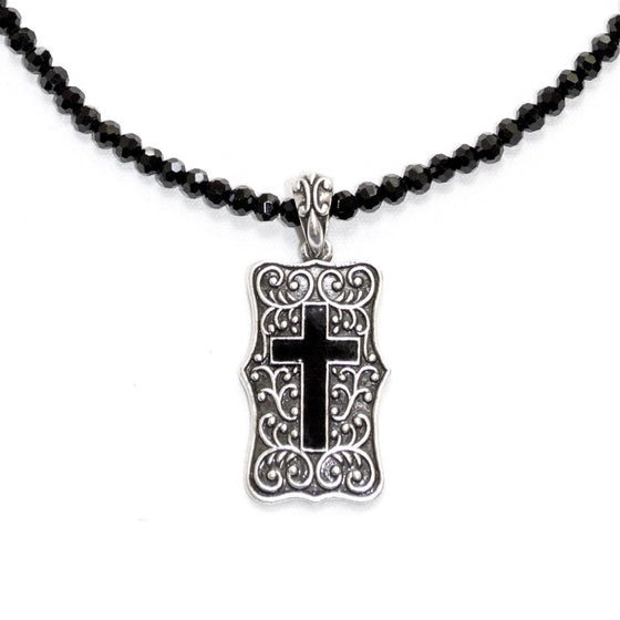 Be Still Cross Necklace-Christian Necklaces-Halle Joy-SonGear