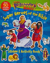 Beginner's Bible Super Heroes Of The Bible Sticker And Activity Book-Christian Decorative Stickers-SonGear Marketplace-SonGear
