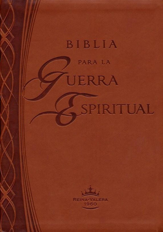 Biblia para la Guerra Espiritual RVR 1960, Piel Imit. Marró (RVR 1960 Spiritual Warfare Bible, Imit. Leather, Brown)-Christian Bibles-SonGear Marketplace-SonGear