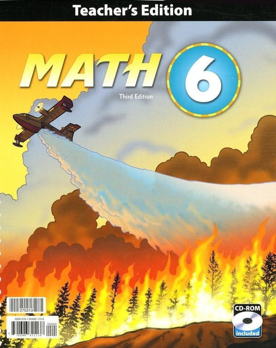 BJU Math Grade 6 Teacher's Edition with CD-ROM (Third Edition)-Christian Books-SonGear Marketplace-SonGear