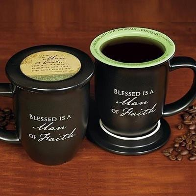 Blessed is a Man of Faith Mug and Coaster-Christian Coffee Mugs-SonGear Marketplace-SonGear