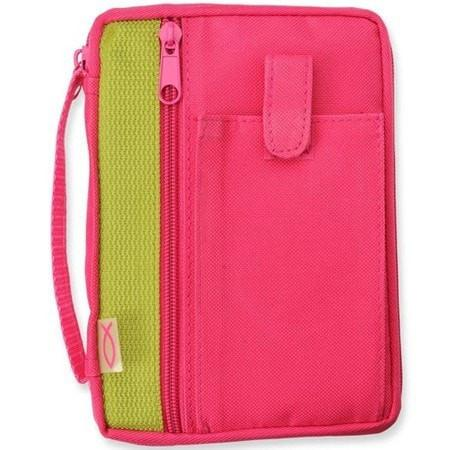 Canvas Compact Bible Cover, Fuchsia, Christian Bibles, SonGear Marketplace, 796437141040, 796437141040 - SonGear