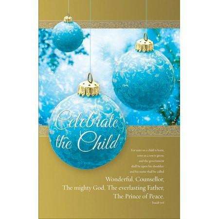 Celebrate the Child (Isaiah 9:6, KJV) Christmas Bulletins, 100-Christian Church Supplies-SonGear Marketplace-SonGear