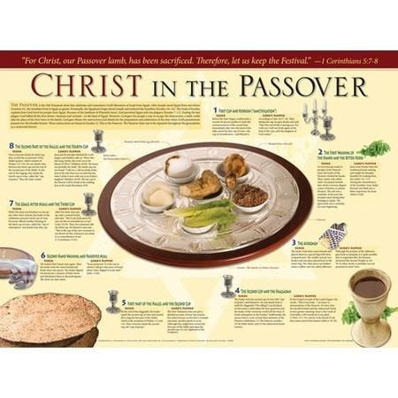 Christ in the Passover, Laminated Wall Chart, Christian Religious Items, SonGear Marketplace, 9781596361881, 1596361883 - SonGear
