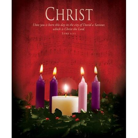 Christ (Luke 2:11) Large Advent Bulletins, 100-Christian Church Supplies-SonGear Marketplace-SonGear