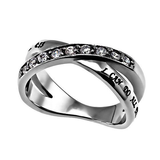 'Christ My Strength' - Women's Radiance Ring-Christian Rings-Spirit and Truth-0994220413:5-SonGear