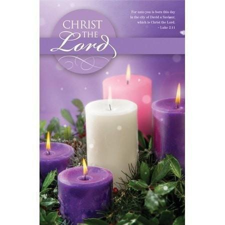 Christ The Lord (Luke 2:11) Advent Bulletins, 100-Christian Church Supplies-SonGear Marketplace-SonGear