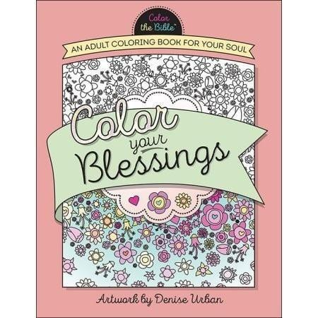 'Color Your Blessings' Adult Coloring Book-Drawing & Painting-SonGear Marketplace-SonGear