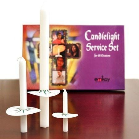 Complete Candlelight Service Set for 125 People-Christian Candles-SonGear Marketplace-SonGear