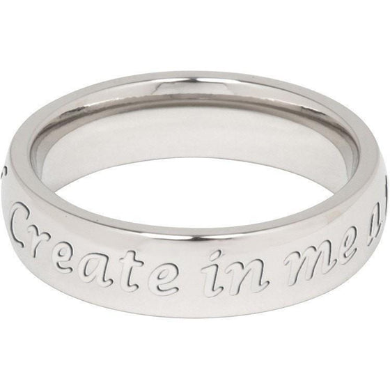 """Create in me a pure heart"" Steel Ring-Christian Rings-Cornerstone Jewelry-684191819452-6-684191819452-6-SonGear"