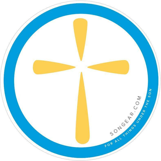 Cross Sticker - 4 Inch Vinyl-Christian Decorative Stickers-SonGear-SonGear
