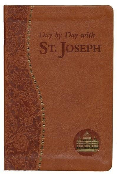 Day by Day with Saint Joseph, Imitation Leather, Brown-Christian Bibles-SonGear Marketplace-SonGear