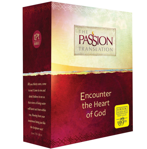 Encounter The Heart Of God Boxed Set (8-In-1) (The Passion Translation)-Christian Bibles-SonGear Marketplace-SonGear