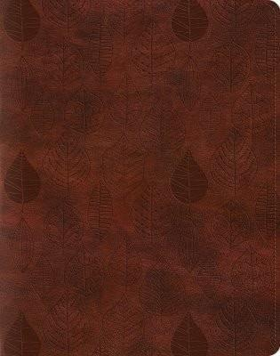 ESV Single Column Journaling Bible - Chestnut Leaves-Christian Bibles-SonGear Marketplace-SonGear