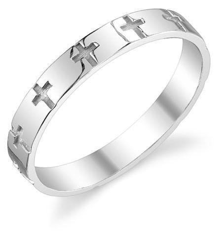 etched cross wedding band in sterling silver christian rings apples of gold jdb - Cross Wedding Rings