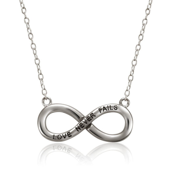 Eternal Grace Sterling Silver Necklace-Christian Necklaces-Halle Joy-SonGear