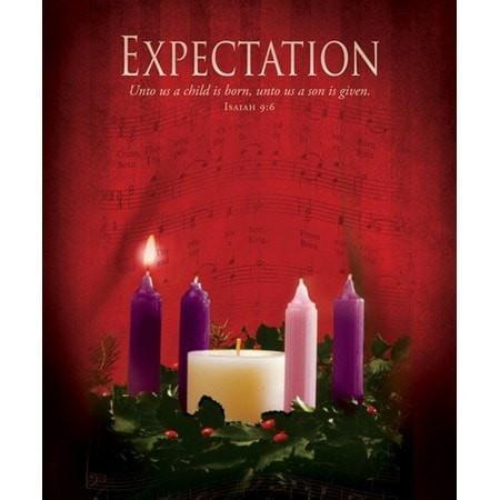 Expectation (Isaiah 9:6) Large Advent Bulletins, 100-Christian Church Supplies-SonGear Marketplace-SonGear