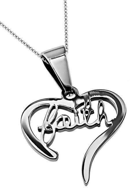'Faith' - Handwriting Heart Necklace-Christian Necklaces-Spirit and Truth-SonGear