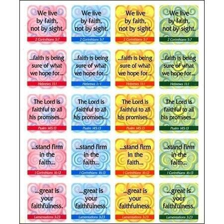 Faith Verses (Pack of 120)-Christian Decorative Stickers-SonGear Marketplace-SonGear