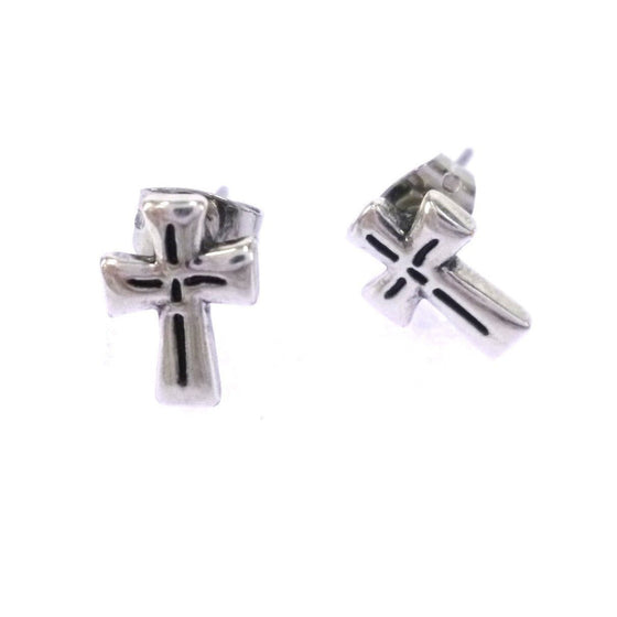 Faithfulness Cross Earring-Christian Earrings-Halle Joy-SonGear