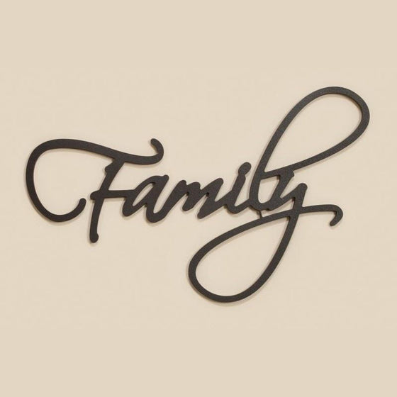 Family - Wood Script Décor-Christian Home Decor-SonGear Marketplace-SonGear