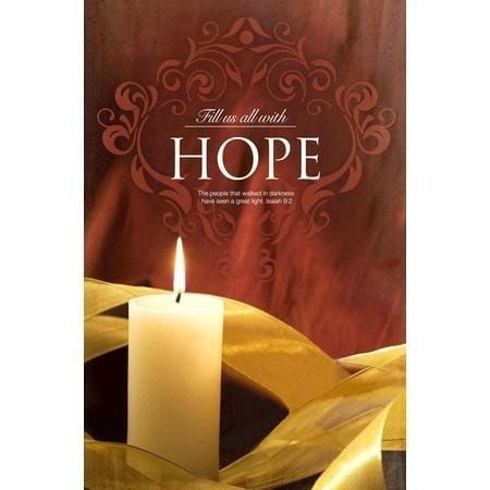 Fill Us with Hope (Isaiah 9:2) Advent Bulletin #1, 100-Christian Stationery-SonGear Marketplace-SonGear