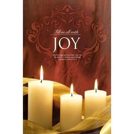 Fill Us with Joy (Luke 2:10-11) Advent Bulletin #3, 100-Christian Stationery-SonGear Marketplace-SonGear