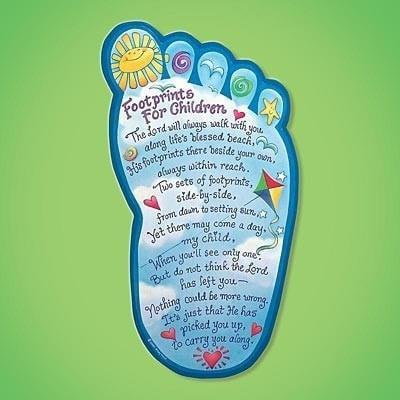 Footprints For Children Plaque-Christian Home Decor-SonGear Marketplace-SonGear