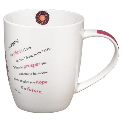 For I Know the Plans, Flower Mug-Christian Coffee Mugs-SonGear Marketplace-SonGear