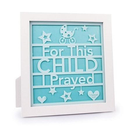 For This Child I Prayed Plaque-Christian Home Decor-SonGear Marketplace-SonGear