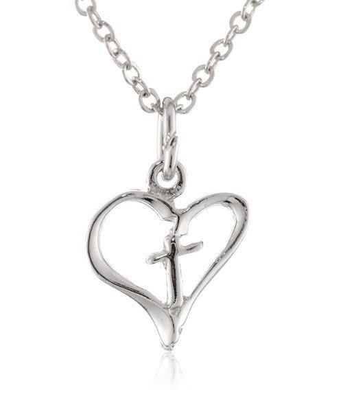 Freedom Heart/Cross Necklace-Christian Necklaces-Bob Siemon-SonGear